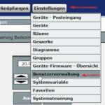 Einstellungen -> Benutzerverwaltung