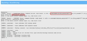 Fehlerhaftes Backup des ioBroker aufgrund falscher Anmelde - Daten