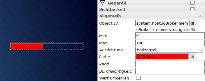 Einfache Bar mit Datenpunkt