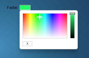 Farbzuweisung des Shelly über die VIS Oberfläche
