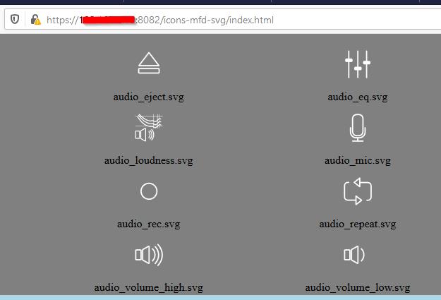 Mfd icons Übersicht im Browser öffnen