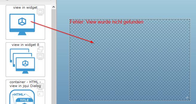 """""""view in widget"""" auf die View ziehen"""