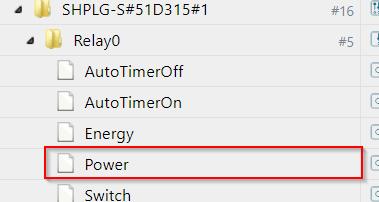 Datenpunkt des Shelly Plug S